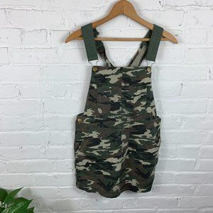 Forever 21 Army Fatigue Jumper Dress Green Size S